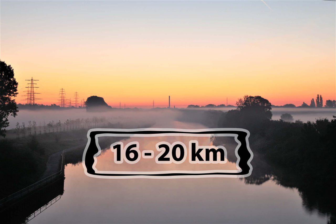 Laufstrecken in Oberhausen am Rhein-Herne-Kanal - 16-20 km