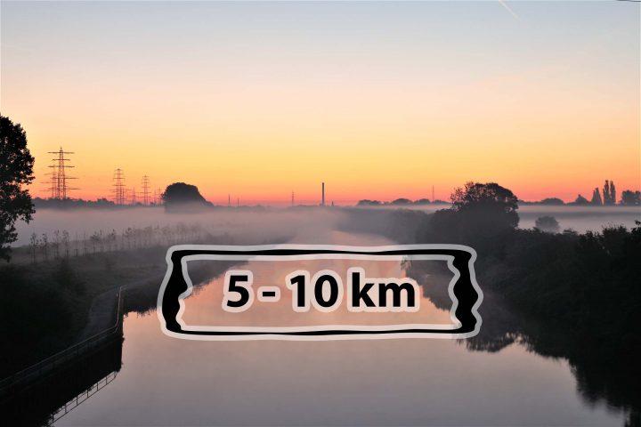 Laufstrecken in Oberhausen am Rhein-Herne-Kanal - 5-10 km